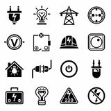 Vector Electricity icon set Stock Photography