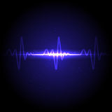 Vector Electrocardiogram Stock Image