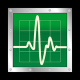 Vector Electronic Cardiogram Stock Image
