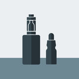 Vector Electronic Cigarette with liquid. In the flat design style Royalty Free Stock Photography