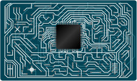 Vector electronic circuit board Royalty Free Stock Photo