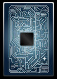 Vector electronic circuit board Stock Photography