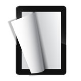 Vector Electronic journal template vector Royalty Free Stock Image