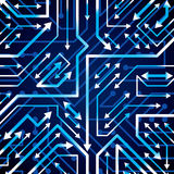 Vector electronic pattern with microchip scheme  Stock Images