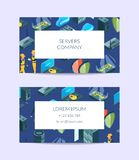 Vector electronic system of data center icons business card stock illustration