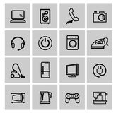 Vector electronics icon set Stock Photography