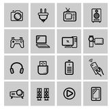 Vector electronics icon set Stock Photo