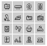 Vector electronics icon set Stock Image