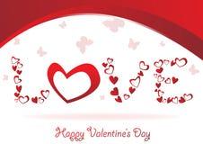 Vector elegance valentine card. Clip-art Stock Photography