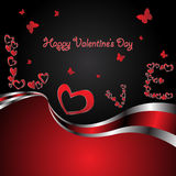 Vector elegance valentine card Stock Photography