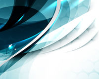 Vector elegant abstract wave template background Stock Photos