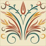 Vector Elegant background with lace ornament . Stock Images