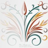 Vector Elegant background with lace ornament . Stock Image