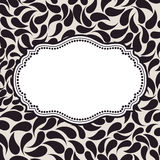 Vector elegant background pattern. Floral frame Royalty Free Stock Images
