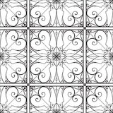 Vector elegant black and white seamless pattern Royalty Free Stock Images