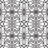 Vector elegant black and white seamless pattern Stock Image