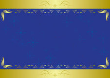 vector elegant blue card with texture Royalty Free Stock Photography