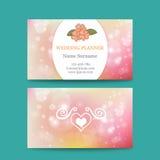 Vector elegant feminine business card template Stock Photo