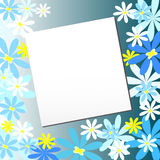 Vector elegant flower background with space for text Stock Image