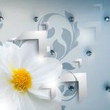 Vector elegant futuristic flower background Stock Image