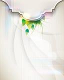 Vector elegant futuristic vintage frame background Royalty Free Stock Photo