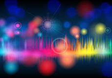 Elegant glittering music background Stock Photos