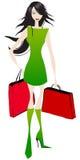 Elegant shopping girl Stock Image