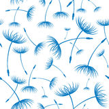 Vector. Elegant seamless dandelion pattern Royalty Free Stock Images