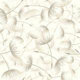Vector. Elegant seamless dandelion pattern Royalty Free Stock Images