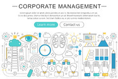 Vector elegant thin line flat modern Corporate business managment concept. Website header banner elements layout Stock Photography