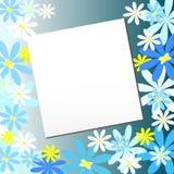 Vector elegante bloemachtergrond met ruimte voor tekst Stock Afbeelding