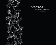 Vector element of abstract cybernetic particles Royalty Free Stock Photos