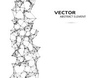Vector element of abstract cybernetic particles Royalty Free Stock Photo