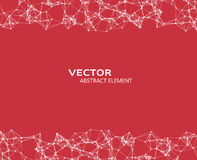 Vector element of cybernetic particles Royalty Free Stock Photography