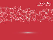 Vector element of cybernetic particles Royalty Free Stock Photo