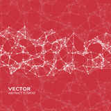 Vector element of cybernetic particles Stock Photography