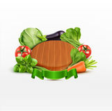 Vector element for design (cutting board with vegetables Royalty Free Stock Images