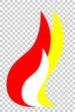 Element Design for your Logo : Fire, at Transparent Effect Background. Vector Element Design for your Logo : Fire, at Transparent Effect Background Royalty Free Stock Photo