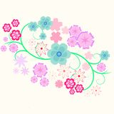 Element of flower curl Royalty Free Stock Photography