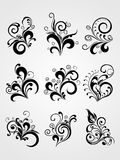 Vector element flower tattoos Royalty Free Stock Images