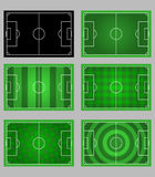 Soccer field pattern element graphic. Vector element graphic of soccer field pattern Royalty Free Stock Images