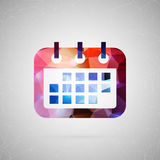 Vector element for your design. Abstract creative concept vector icon of calendar. For web and mobile content  on background, unusual template design, flat Royalty Free Stock Photos