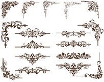 Vector elementdy for design corners. Romantic set of vector ornimentov for design books, websites, and more. Vintage curls for business cards Stock Photo