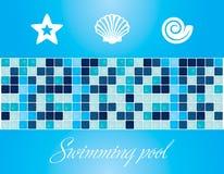 Vector. Elementos y texturas de la piscina Fotografía de archivo libre de regalías