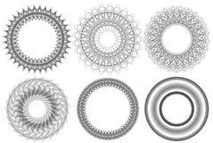 Vector elements. Six black circle vector elements, vector illustration Stock Photo