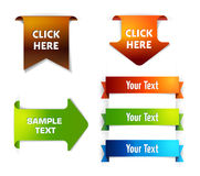 Vector Elements. Colletion of elements for web or print Stock Photo