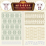 Vector elements art-deco style. Pattern, brush, symbol. Vector ornaments. Elements art-deco style. Pattern, brush, symbol Stock Photos