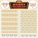 Vector elements art-deco style. Pattern, brush, symbol Stock Images