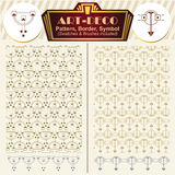 Vector elements art-deco style. Pattern, brush, symbol. Vector ornaments. Elements art-deco style. Pattern, brush, symbol Royalty Free Stock Photography