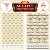Vector elements art-deco style. Pattern, brush, symbol Stock Photo